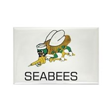 Seabees Rectangle Magnet
