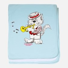 Trumpet Cat: ALL PRODUCTS baby blanket