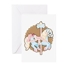 Ice Cream Carousel Greeting Cards (Pk of 10)