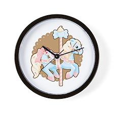 Ice Cream Carousel Wall Clock