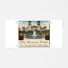 Alcazar Hotel Aluminum License Plate