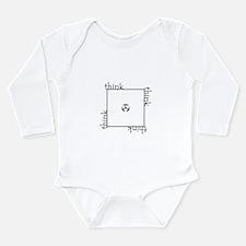 Think Outside the Box! Long Sleeve Infant Bodysuit