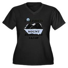 I Climbed Mount Democrat Women's Plus Size V-Neck
