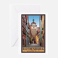 Rothenburg Weisserturm Greeting Card