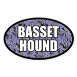 Basset Hound Sticker (Oval)