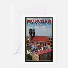 Munich Frauenkirche Greeting Card