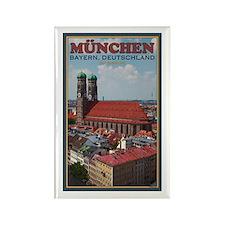 Munich Frauenkirche Rectangle Magnet