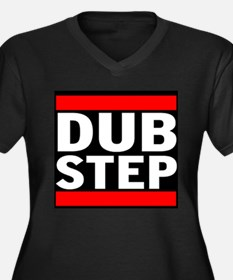 DubStep Logo Women's Plus Size V-Neck Dark T-Shirt