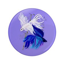 "Blue 'n' White Siamese Fighti 3.5"" Button (100 pac"