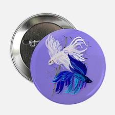 "Blue 'n' White Siamese Fighti 2.25"" Button"