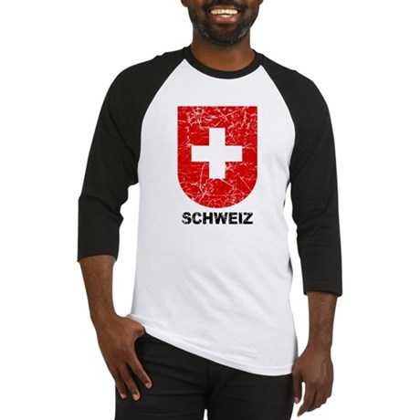Schweiz Switzerland Shield Baseball Jersey