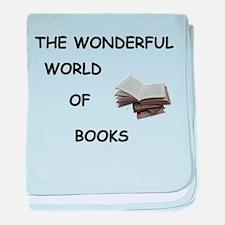 THE WONDERFUL WORLD OF BOOKS baby blanket