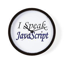 """I Speak JavaScript"" Wall Clock"