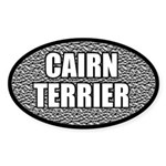 Metallic Cairn Terrier Oval Sticker