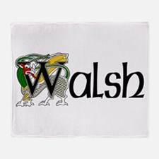 Walsh Celtic Dragon Throw Blanket