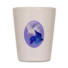 Blue 'n' White Siamese Fighti Shot Glass