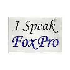 """I Speak FoxPro"" Rectangle Magnet (100 pack)"