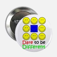"Dare to be Different 2.25"" Button"