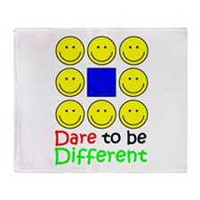 Dare to be Different Throw Blanket