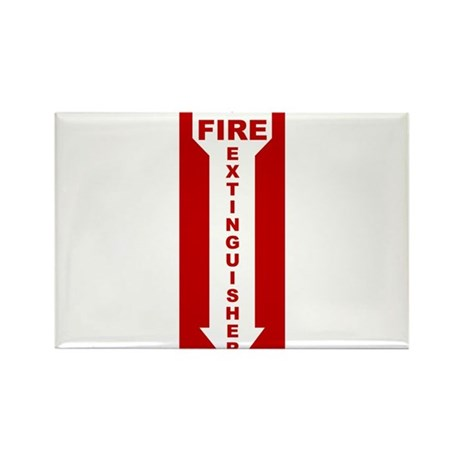 Fire Extinguisher Rectangle Magnet (10 pack)