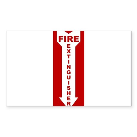 Fire Extinguisher Rectangle Sticker