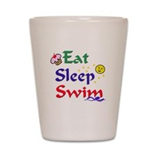 Eat Sleep Swim Shot Glass