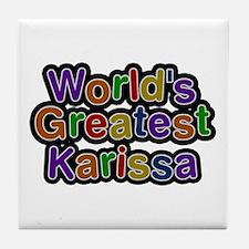World's Greatest Karissa Tile Coaster