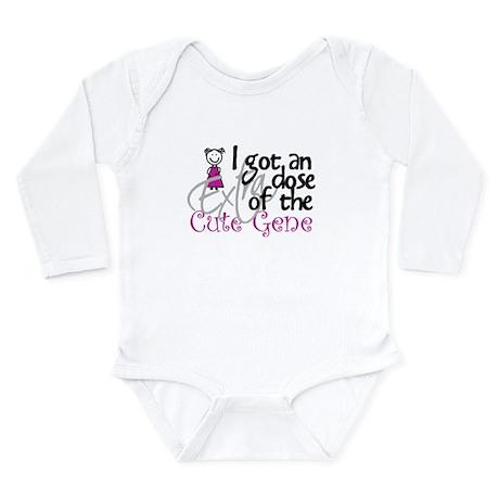 Cute Gene Long Sleeve Infant Bodysuit