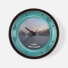 Cabo Sunset Porthole Wall Clock