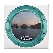 Cabo Sunset Porthole Tile Coaster
