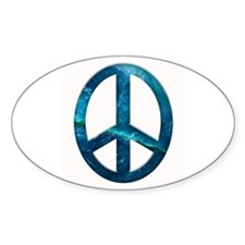 Turquoise Sculpted Stone Peace Symbol Decal