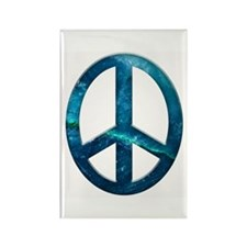 Turquoise Sculpted Stone Peace Symbol Rectangle Ma