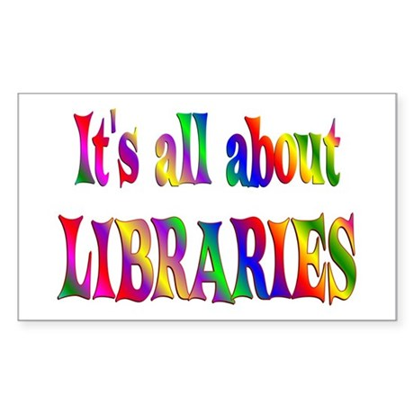 About Libraries Sticker (Rectangle)