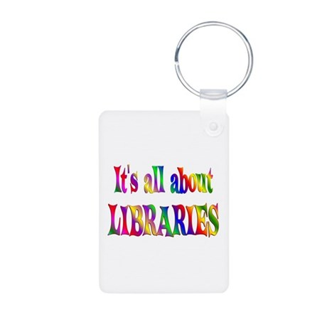 About Libraries Aluminum Photo Keychain