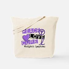 Peace Love Cure Hodgkin's Lymphoma Tote Bag