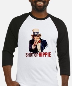 Shut Up Hippie Baseball Jersey