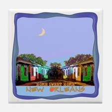 New Orleans Home Sweet Home i Tile Coaster