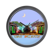 New Orleans Home Sweet Home i Wall Clock