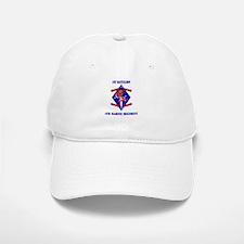 1st Battalion - 4th Marines with Text Baseball Baseball Cap