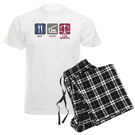 Eat Sleep Law School Men's Light Pajamas