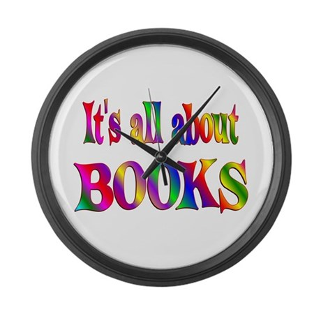 About Books Large Wall Clock