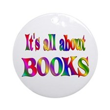 About Books Ornament (Round)