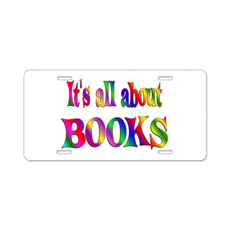 About Books Aluminum License Plate