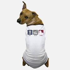 Eat Sleep Club Dog T-Shirt