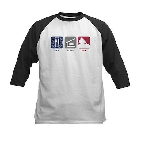Eat Sleep Mix Kids Baseball Jersey