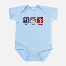 Eat Sleep Ballet Girl 3 Infant Bodysuit