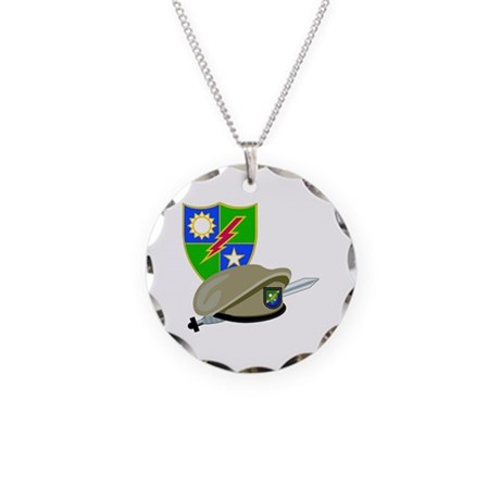 SOF - Ranger DUI - Beret Necklace Circle Charm