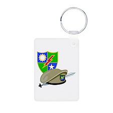 SOF - Ranger DUI - Beret Aluminum Photo Keychain