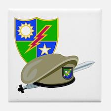 SOF - Ranger DUI - Beret Tile Coaster