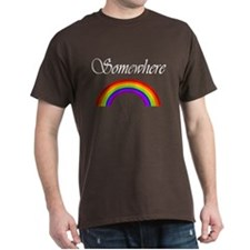 Somewhere Over the Rainbow Black T-Shirt